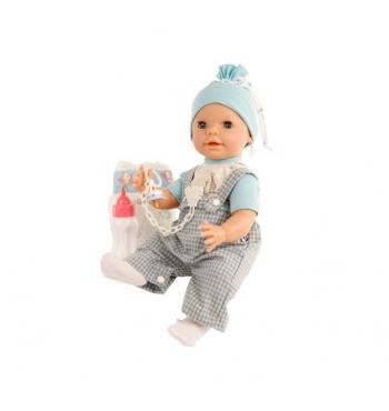 Кукла Реборн мальчик с бутылочкой и соской (40 см)