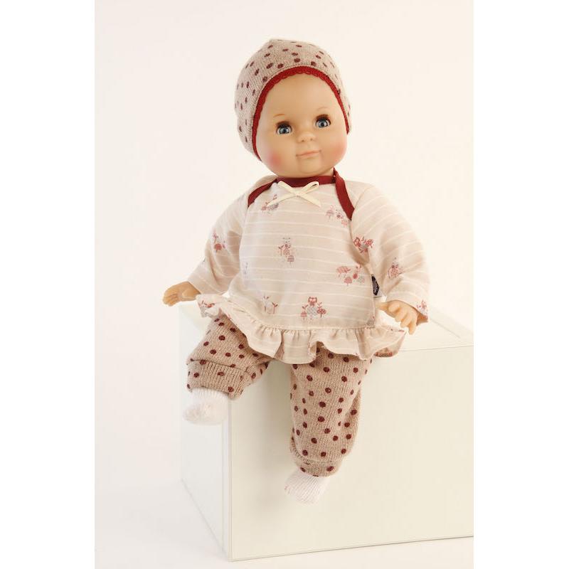 Кукла Пупс в наряде в горошек (32 см)