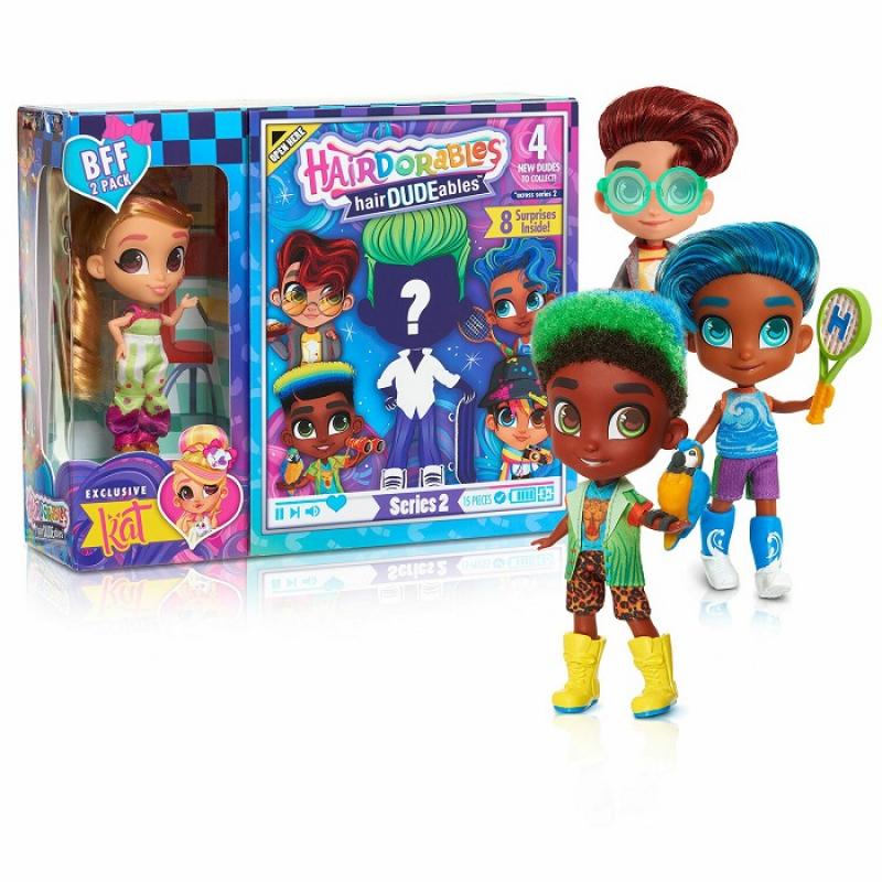 """Кукла Kat с мальчиком """"Сладкая парочка"""" Hairdorables"""