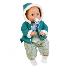 Большая кукла малыш Эми в зимнем с голубой пустышкой (45 см)