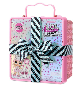 L.O.L. Surprise! Deluxe Present Surprise with Sprinkles Doll and Pet