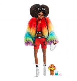 Barbie Экстра №1 в радужном пальто