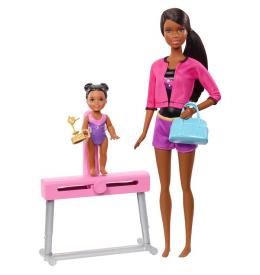 Игровой набор Barbie Тренер по гимнастике (брюнетка)