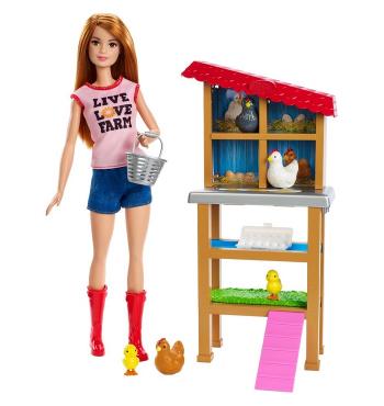 Barbie Chicken Farmer - Doll & Playset