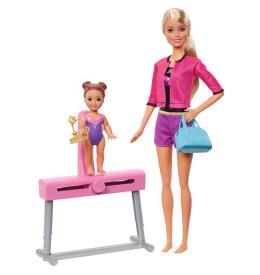 Игровой набор Barbie Тренер по гимнастике (блондинка)