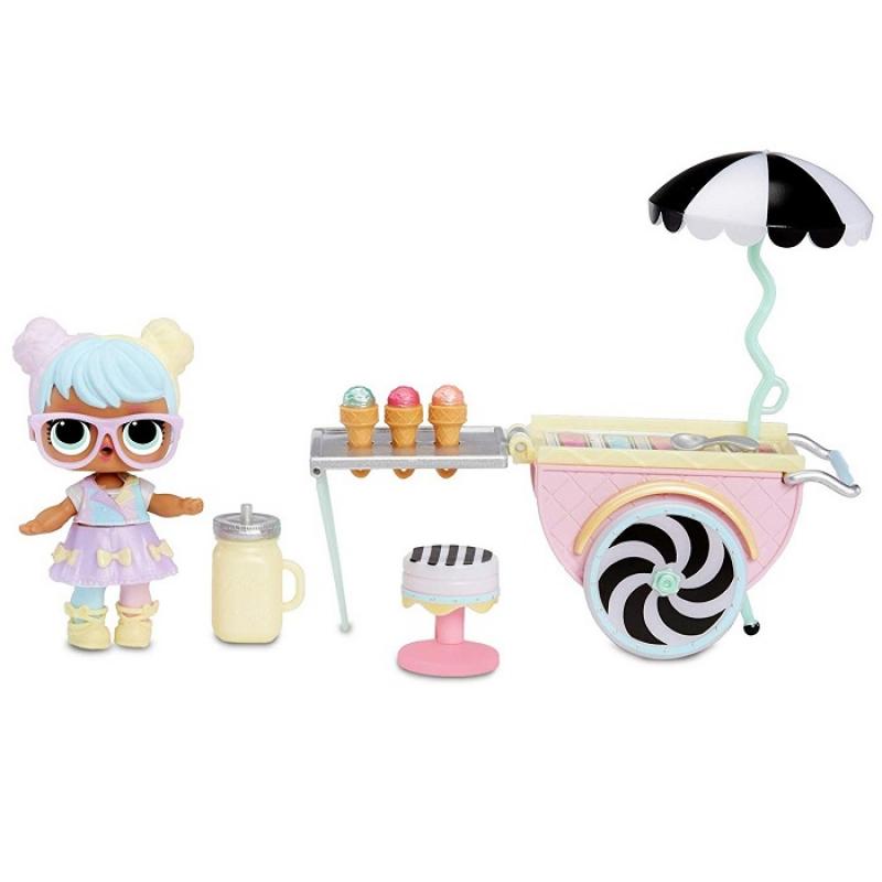 L.O.L. Surprise! Furniture Ice Cream Pop-Up with Bon & 10 Surprises